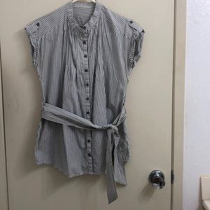 Striped blouse used in women